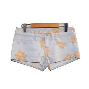 American Eagle Floral Short Stretch Jean Shorts